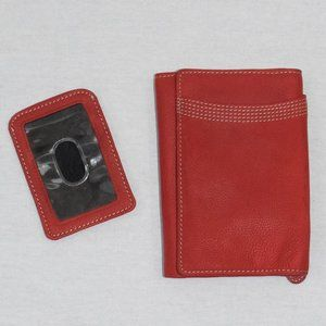 Relic Red Wallet & ID Card Holder